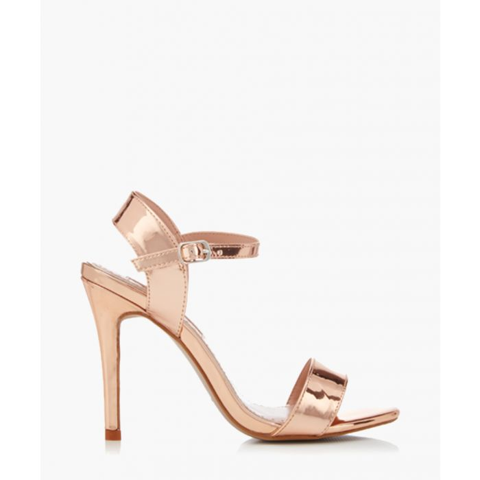 Image for Imogen rose gold-tone strappy sandals