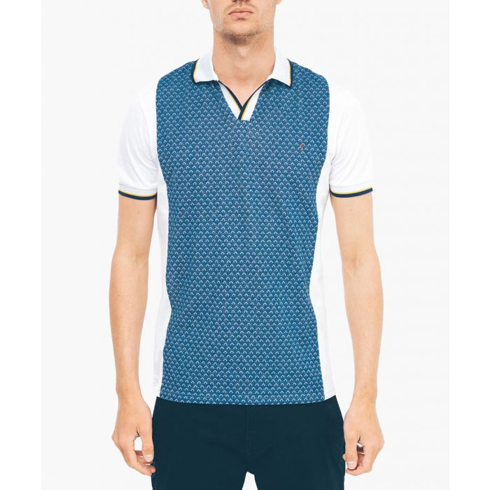 Image for White pure cotton polo shirt