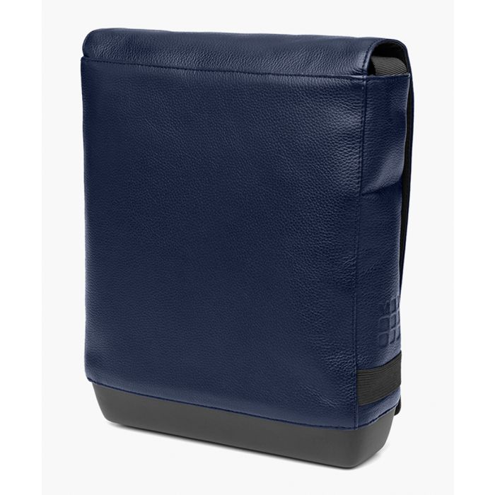 Image for Blue classic leather reporter bag