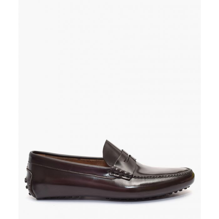 Image for Dark brown leather loafers