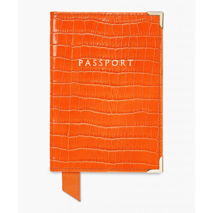 Image for Amber moc-croc passport cover