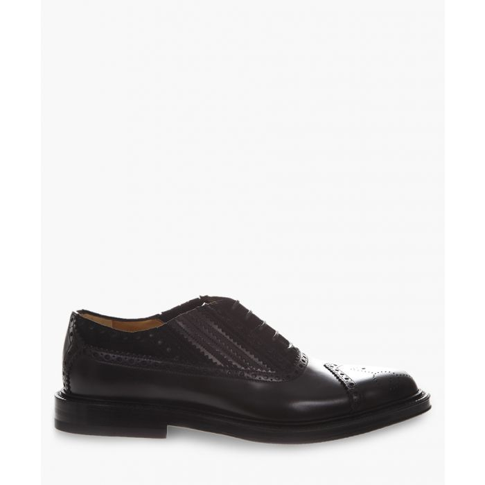 Image for Black lace-up leather brogues