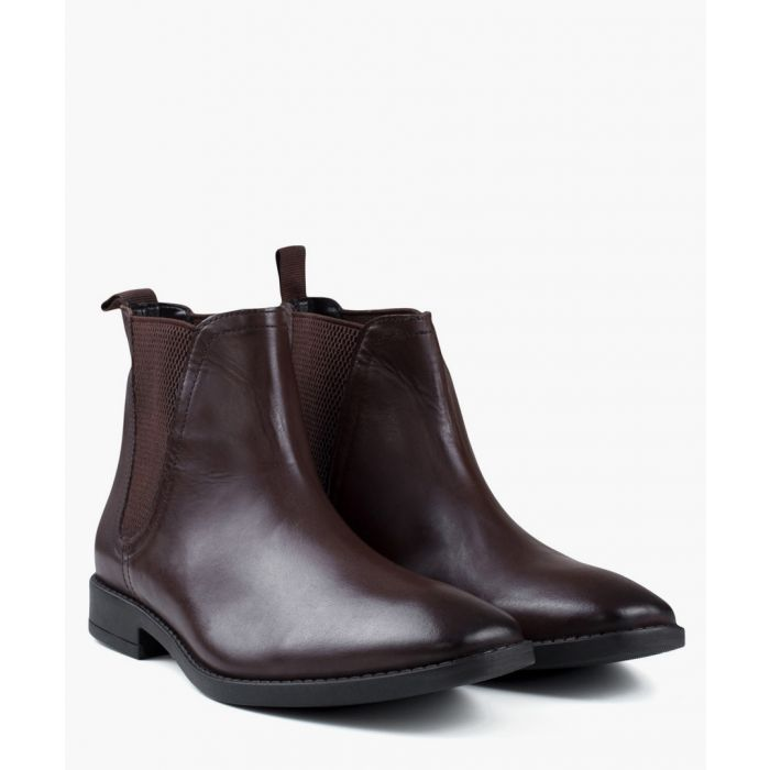 Image for Brown faux-leather Chelsea boots