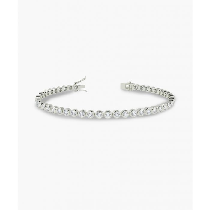 Image for 9k white gold diamond tennis bracelet