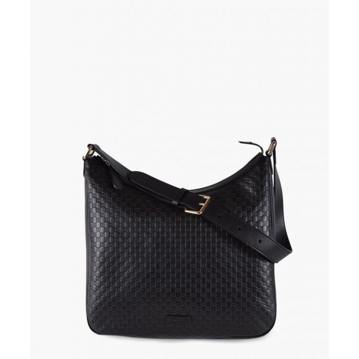Image for Black Guccissima leather hobo bag