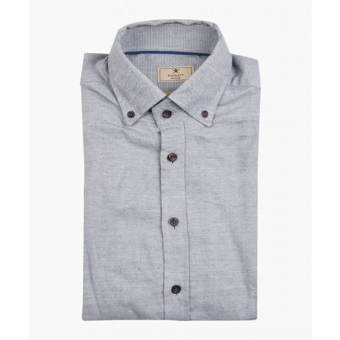 Image for Steel grey button-up shirt