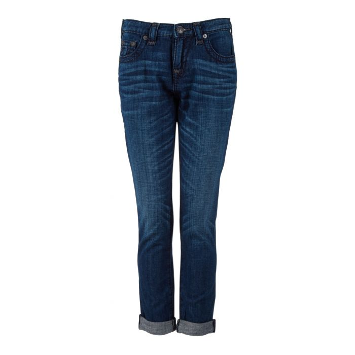 Image for Indigo pure cotton straight jeans