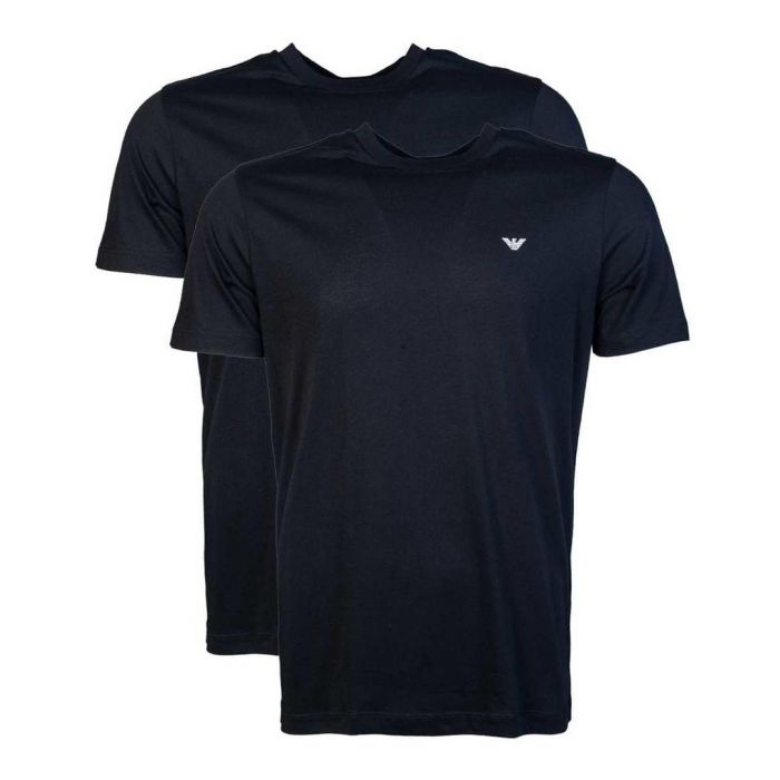 Image for 2pc black cotton T-shirt set