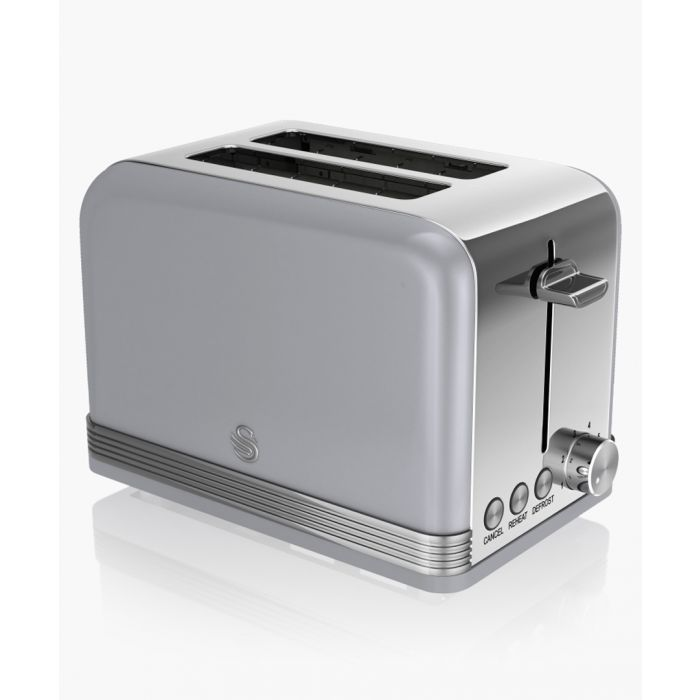 Image for Grey retro 2-slice toaster