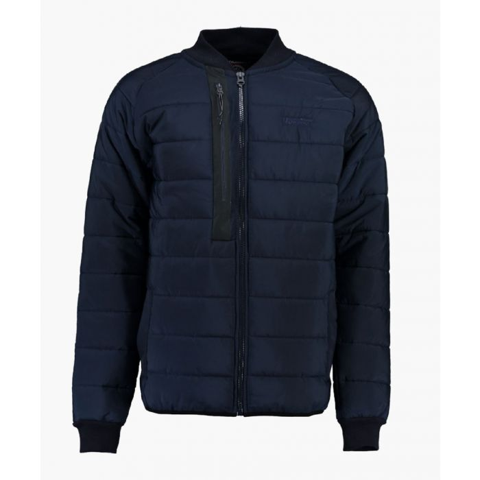 Image for Navy quilted light weight jacket