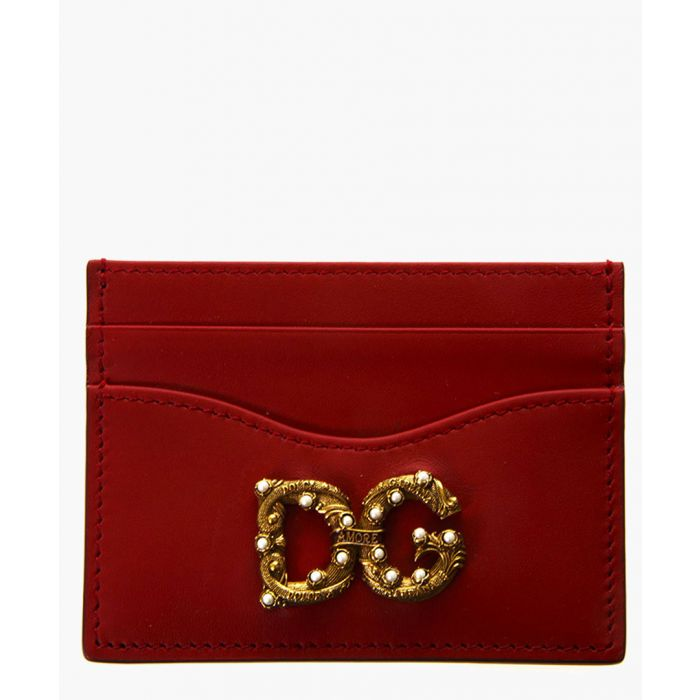 Image for DG Amore red leather cardholder