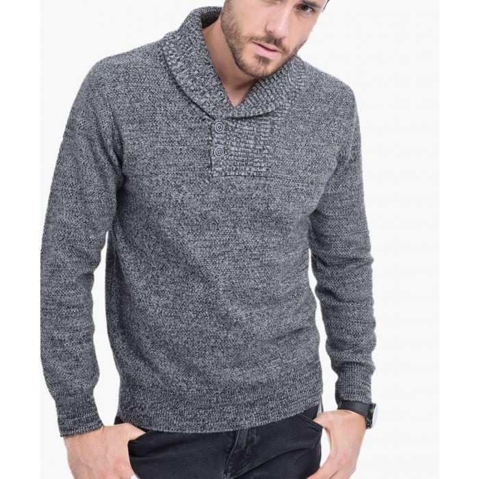 Image for Black cashmere and silk blend jumper