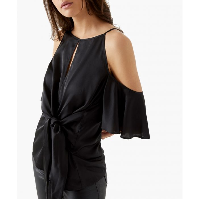 Image for Black satin blouse