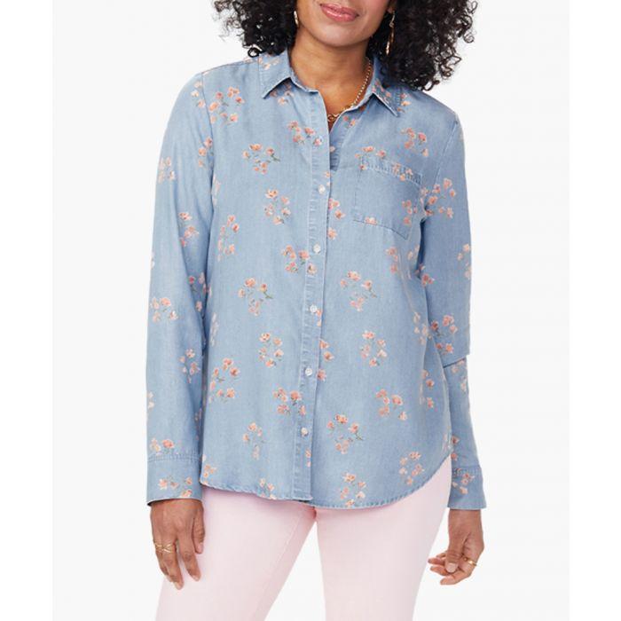 Image for Aline blue floral city shirt