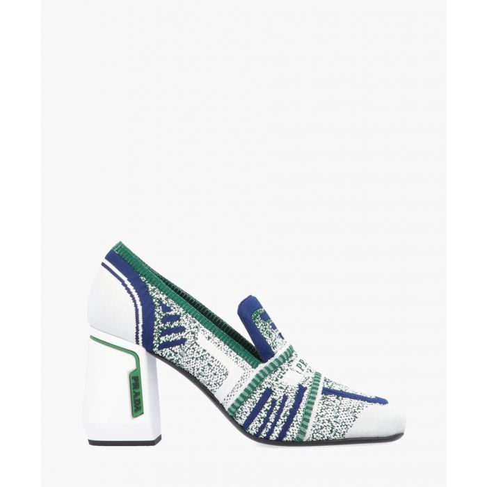 Image for Multi-coloured patterned block heels