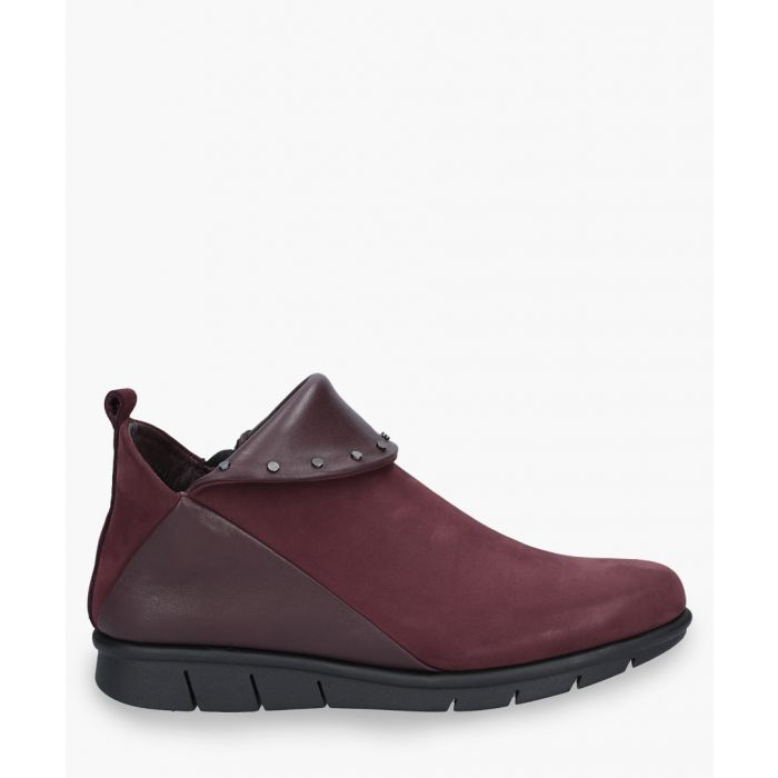 Image for Burgundy leather slip-ons