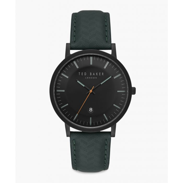 Image for David teal leather and stainless steel watch