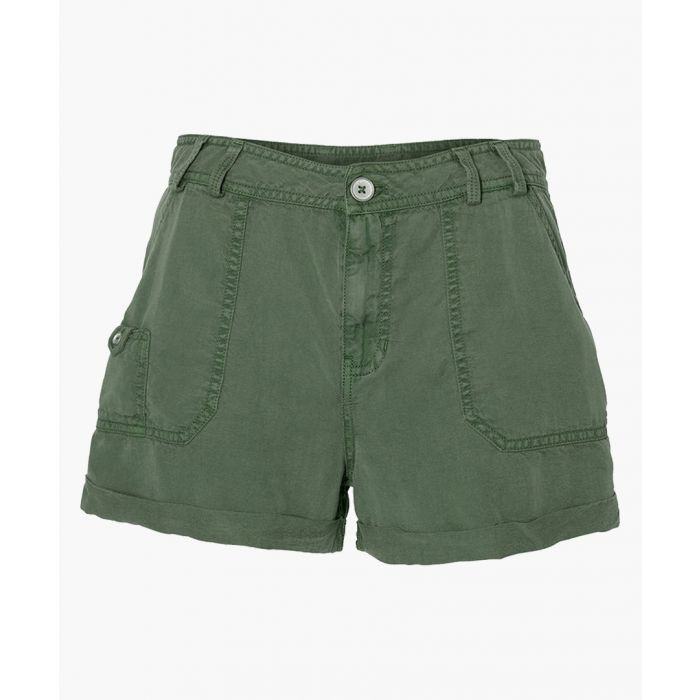 Image for Drapey olive green shorts