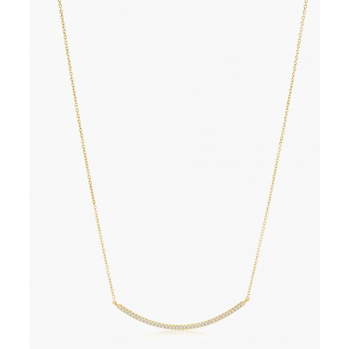 Image for Fucino yellow gold-plated necklace