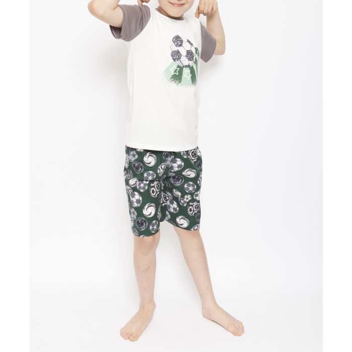 Image for 2pc Alfie green football summer pyjamas