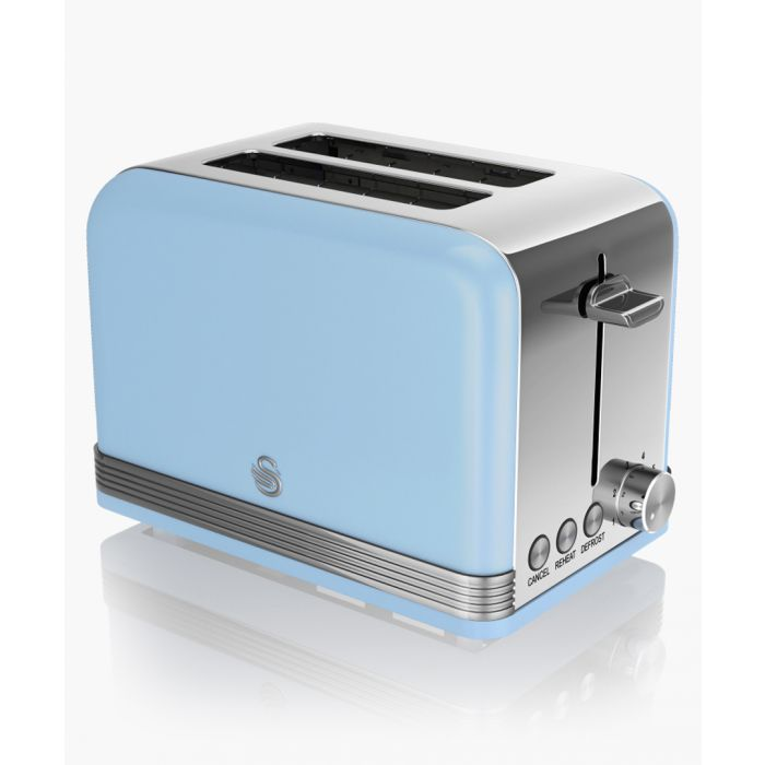 Image for Blue retro 2-slice toaster