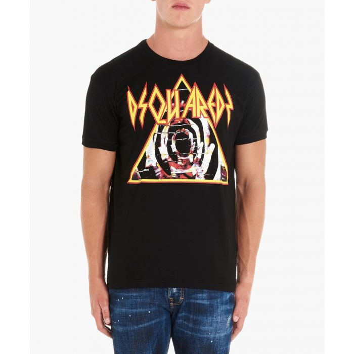 Image for Rock Logo black cotton T-shirt