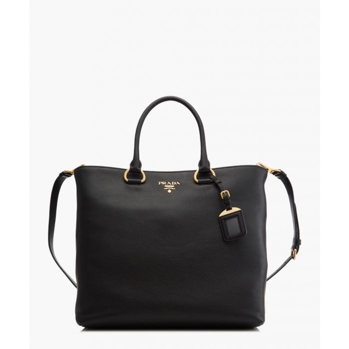 Image for Vitello Phenix black leather shopper
