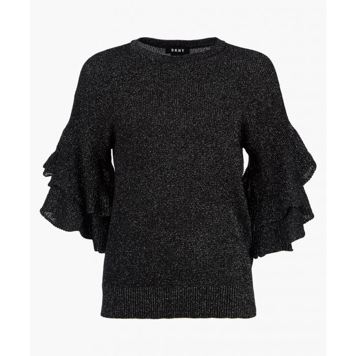 Image for Charcoal ruffle sleeve jumper