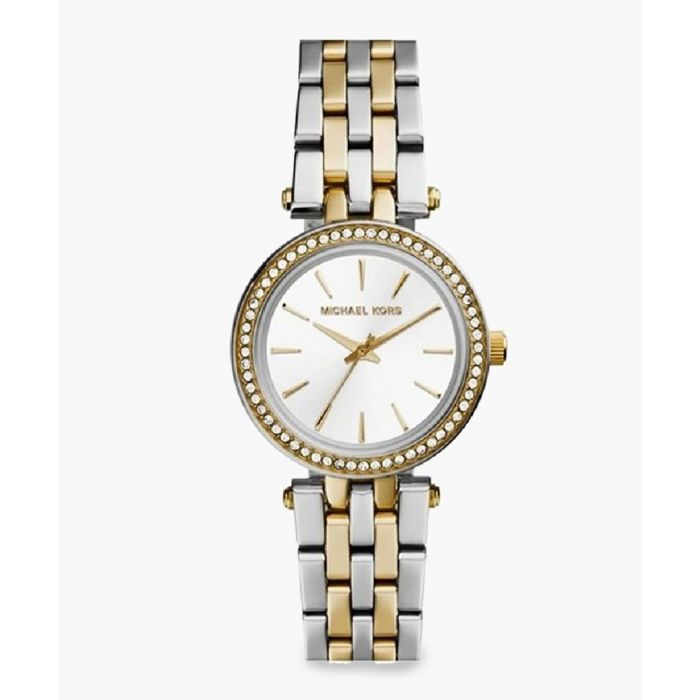 Image for Mini Darci two-tone numberless stainless steel watch