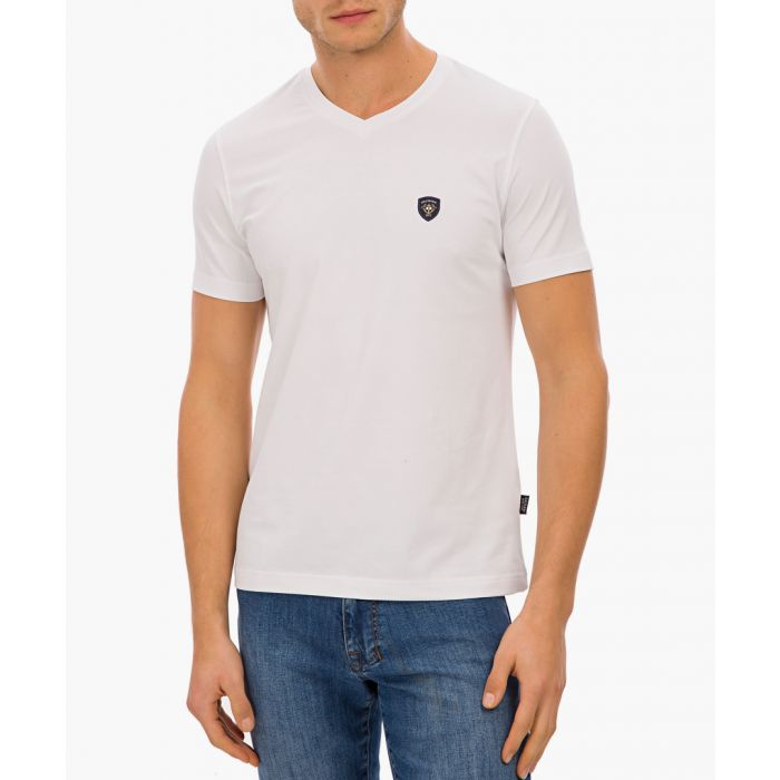 Image for White cotton blend T-shirt