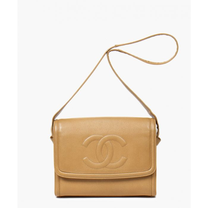 Image for Vintage beige logo messenger
