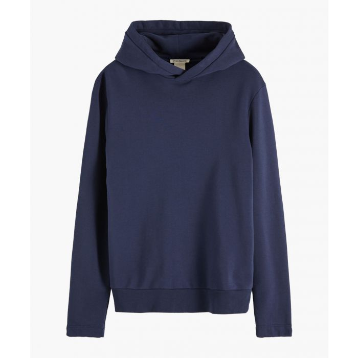 Image for denim blue organic cotton felpa hoodie