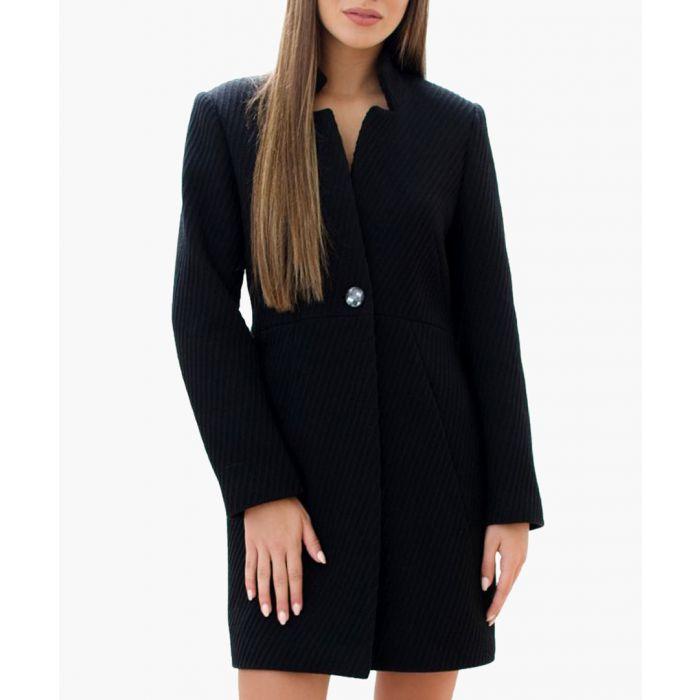 Image for Black Wool Blend Coat