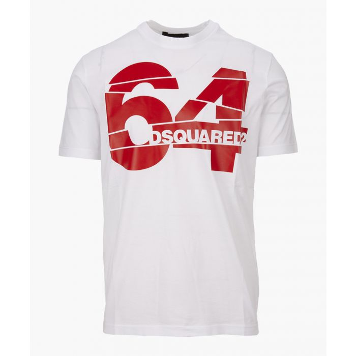 Image for White cotton 64 print T-shirt