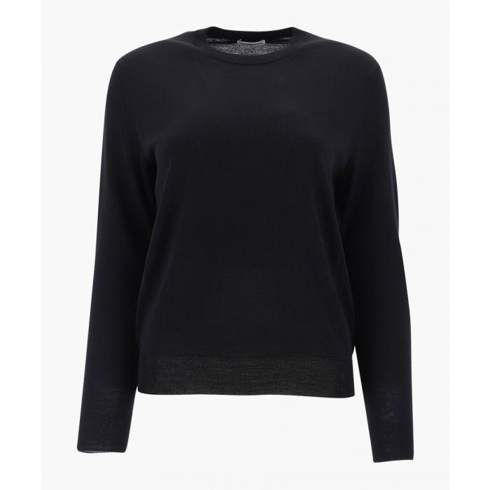 Image for Black wool bb intarsia jumper