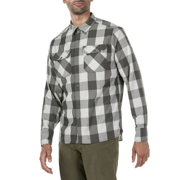 Image for Grey & white checked shirt