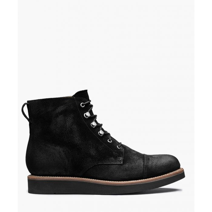 Image for Newton black suede flat boots
