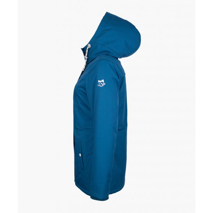 Image for Teal hooded coat