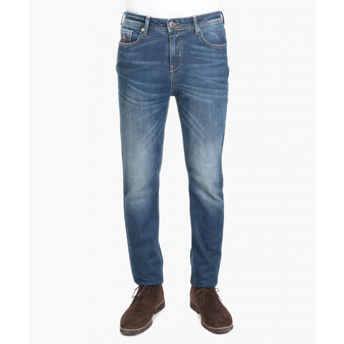 Image for Blue stretch cotton jeans