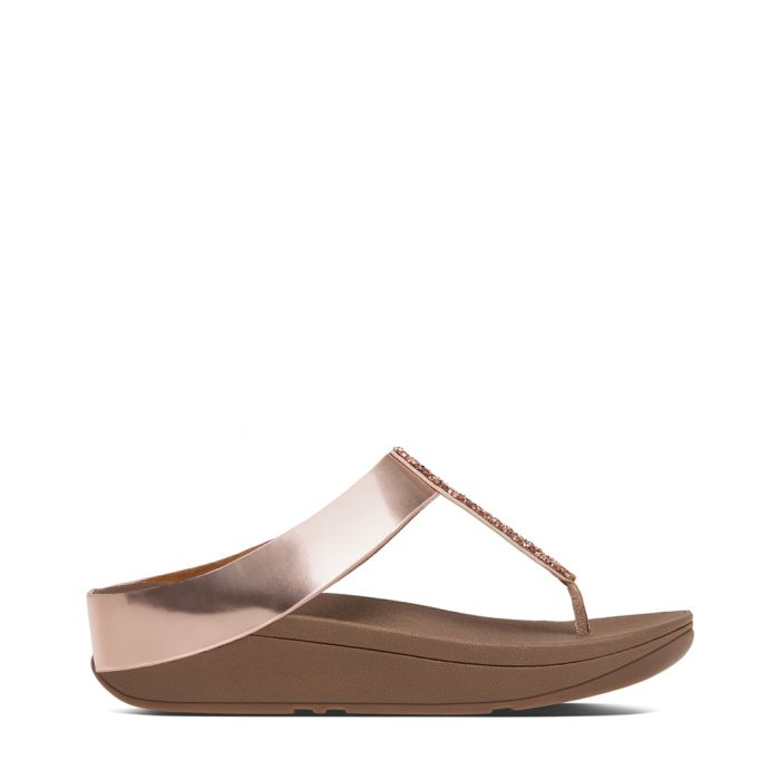 Image for Fino rose gold-tone sandals