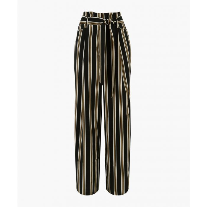 Image for Multi-coloured soft stripe wide leg trousers