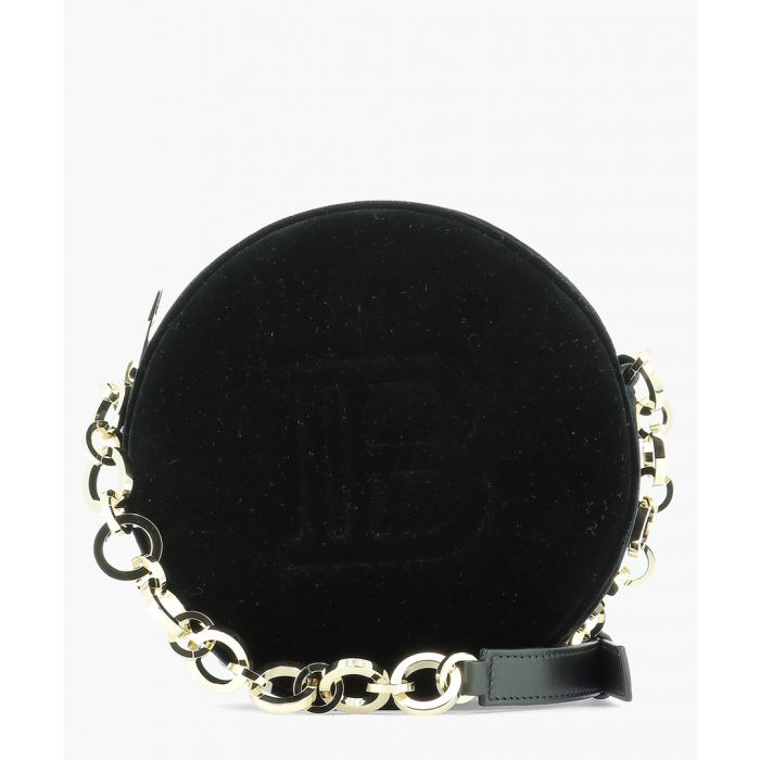 Image for Disco black velvet shoulder bag