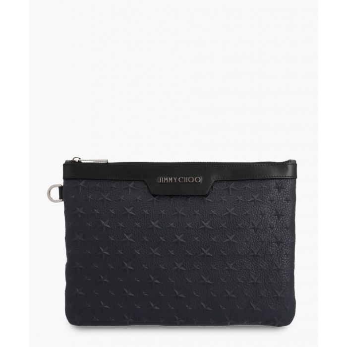Image for Derek blue leather clutch