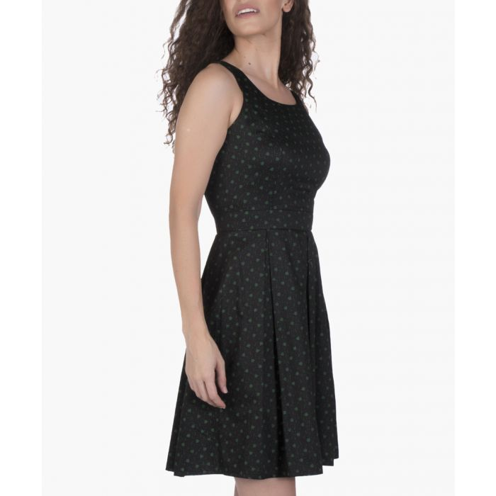 Image for Black and green cotton dress