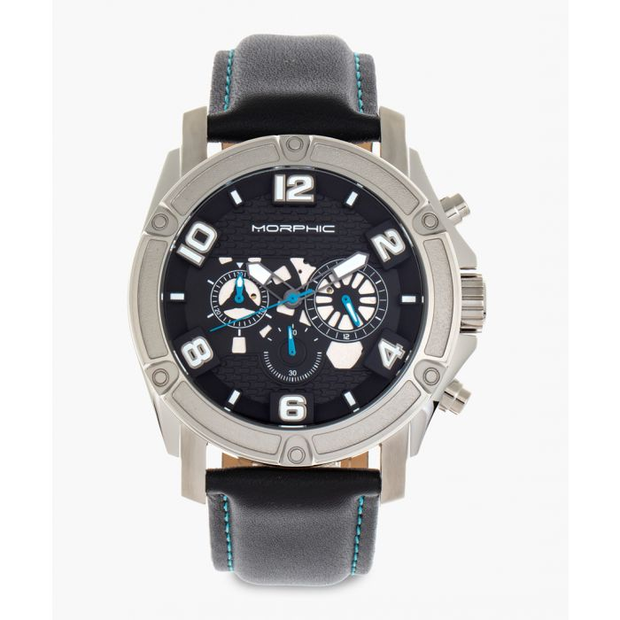 Image for M73 Series leather and stainless steel chronograph watch