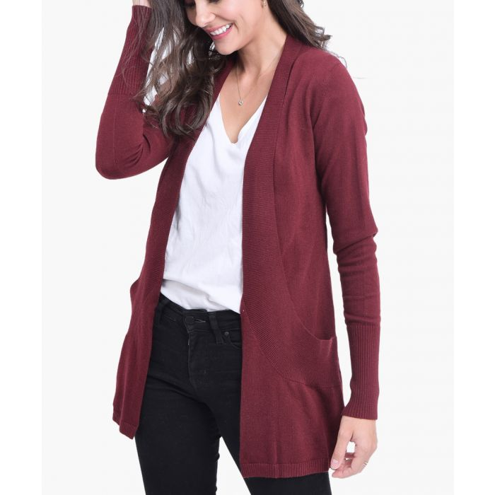 Image for Bordeaux cashmere blend cardigan