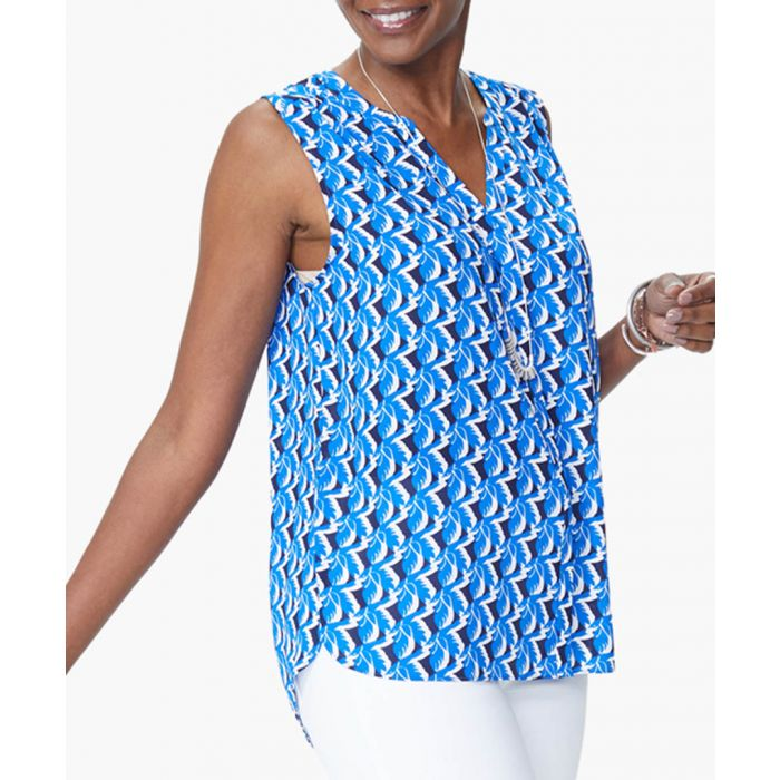 Image for Flock together blue blouse