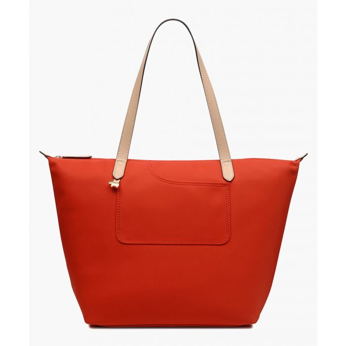 Image for Flame orange large tote