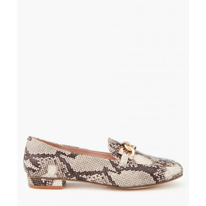 Image for Marble beige combo pattern moccasins