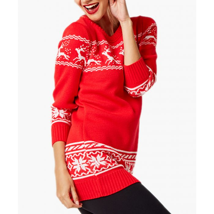 Image for Red loose cut jumper
